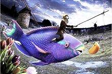 XXCwenXX DIY 5d Diamant malerei lila Big Fish