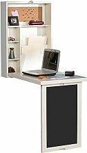 XXHDEE Wandtisch mit Regal und Tafel Schreibtisch