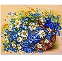 XXIAOHH 5DDIY kreative Puzzle Blumen Korb