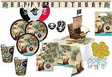 XXL 101 Teile Piraten Paradies Party Deko Set für 8 Kinder