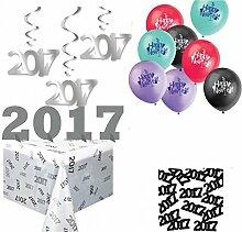 XXL 2017 Silvester und Neujahr Deko Set - Dekorationsse