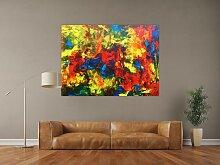 XXL Acryl Gemälde in 110x150cm abstrakte Kunst im