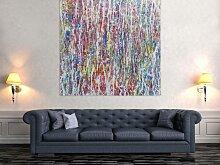 XXL Acryl Gemälde in 140x140cm abstrakte Kunst im