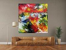 XXL Acryl Gemälde in 150x150cm abstrakte Kunst im