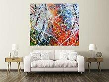 XXL Acryl Gemälde in 160x180cm abstrakte Kunst im