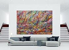 XXL Acryl Gemälde in 200x300cm abstrakte Kunst im