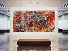 XXL Acryl Gemälde in 200x400cm abstrakte Kunst im