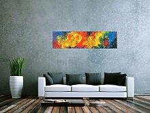 XXL Acryl Gemälde in 40x150cm abstrakte Kunst im