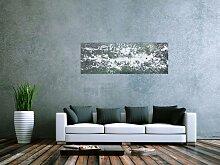 XXL Acryl Gemälde in 50x139cm abstrakte Kunst im
