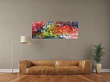 XXL Acryl Gemälde in 50x140cm abstrakte Kunst im