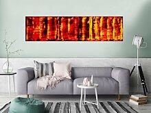 XXL Acryl Gemälde in 50x200cm abstrakte Kunst im