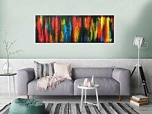 XXL Acryl Gemälde in 55x160cm abstrakte Kunst im