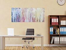 XXL Acryl Gemälde in 60x140cm abstrakte Kunst im