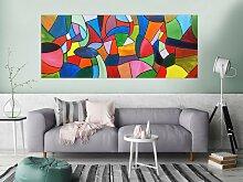 XXL Acryl Gemälde in 80x200cm abstrakte Kunst im