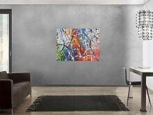 XXL Acryl Gemälde in 90x120cm abstrakte Kunst im