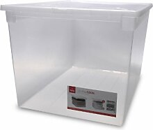XXL Aufbewahrungsbox mit Deckel aus transparentem