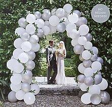 XXL Ballon-Girlande/Hochzeits-Ballons in weiß &