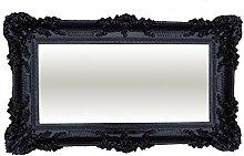 XXL Barockspiegel Wandspiegel Schwarz 96x57cm