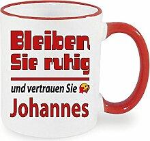 XXL Becher 450ml Rot Johannes bleibt ruhig. Nur
