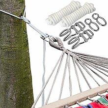XXL Befestigung für Hängematte an Bäumen | Seilbefestigungsset 6 Meter | Belastbarkeit max. 160 KG | Komplettse