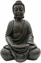 XXL Buddha 100cm, Antik-Look, frostsicher, wetterbeständig, ASIA, Deko, Gartendeko, Feng Shui