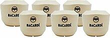 XXL-Drinks 6X Bacardi Kokosnussbecher Coconut Cups