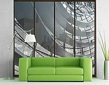 XXL Fensterbild Im Berliner Reichstag II Hauptstadt Schwarzweiß Bundestag Größe: 270cm x 216cm