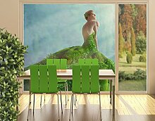 XXL Fensterbild Mother Nature Frühling Wiese Efeu