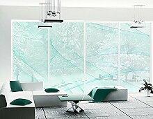 XXL Fensterbild No.RY10 Eissturm Dekoration Muster Linien Digitale Kunst Größe: 270cm x 504cm