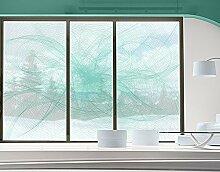 XXL Fensterbild No.RY8 Modern Dance Dekoration Muster Linien Abstrakt Digitale Größe: 270cm x 432cm