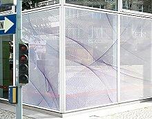 XXL Fensterbild No.RY9 Taubenflug Dekoration Linien Muster Abstrakt Digitale Größe: 270cm x 216cm