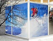 XXL Fensterbild Skisprung Winter Berge Schnee
