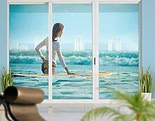 XXL Fensterbild Wellenreiterin Frauen Surfen