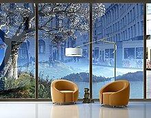 XXL Fensterbild Winter Fairytale Natur Berge Baum