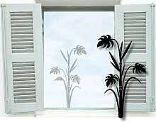 XXL Fenstertattoo ~ Bambus Pflanze, Palme ~