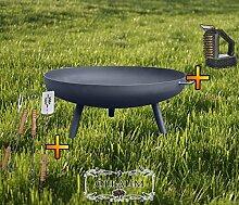 XXL Feuerschale ca. 60 cm für Grill, Camping,