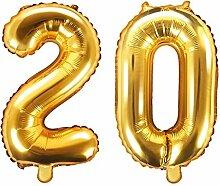 XXL Folien-Ballon/Zahl 20 in