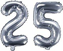 XXL Folien-Ballon/Zahl 25 in