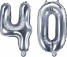 XXL Folien-Ballon/Zahl 40 in