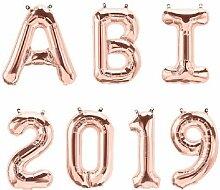 XXL Folien-Ballons ABI 2019 rosé-gold