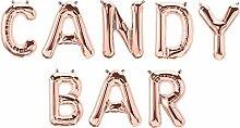 XXL Folien-Ballons Candy-BAR rosé-Gold