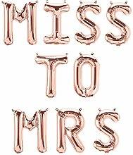 XXL Folien-Ballons MISS TO MRS /