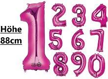 XXL Folienballon Zahl 0 - 9 pink