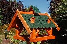 XXL Futterhaus Vogelhaus mit Bitumenschindeln und