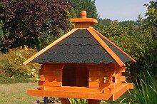 XXL Futterhaus Vogelhaus mit Bitumenschindeln