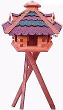XXL Gartendeko aus Holz große Vogelfutter mit
