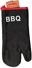 XXL Grillhandschuh, ca. 35cm lang, schwarz, BBQ, Topfhandschuh, Pfannenhalter, Ofenhandschuh