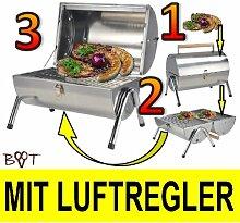 XXL Großer Grill Campinggrill Holzkohlegrill Grillwagen Schwenkgrill Feuerschale