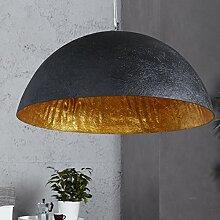 XXL Hängeleuchte Gleam 50cm Ø Gold/Schwarz