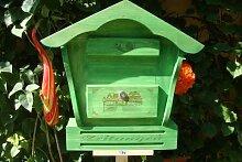 XXL Holz-Briefkasten, Briefkasten mit Holz - Deko
